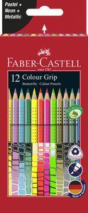 FABER-CASTELL Dreikant-Buntstifte Colour GRIP 12er Etui