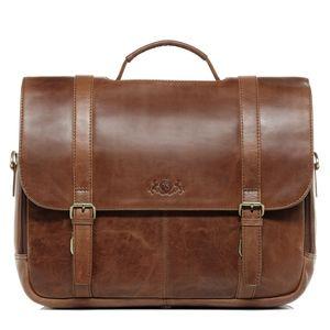 SID & VAIN Lehrertasche SPECTOR Natur-Leder camel-beige Laptoptasche Uni-Tasche Lehrertasche