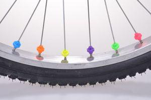 36 Stück Speichendekoration Speichenclips Klicker Perlen Fahrrad 6 Farben