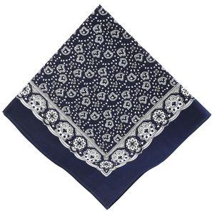 Betz Nickituch Bandana Halstuch mit klassischem Paisleymuster 55x55 cm, blau