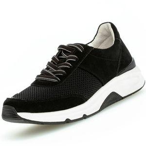 Gabor Damen Sneaker Sneaker Low Leder-/Textilkombination schwarz 41/2