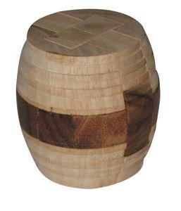 Holzpuzzle -  Großes Faß Puzzle - Fasspuzzle aus Holz