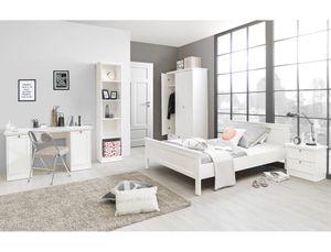 Jugendzimmer Landström 172 weiß 5-teilig Bett 140x200 Schrank Tisch