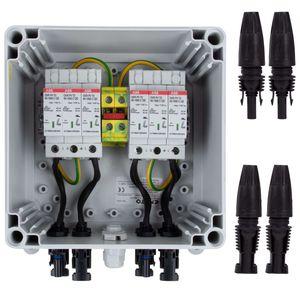 Belion PV Überspannungsschutz im Gehäuse 1000V DC, T2, 2MPP, MC4