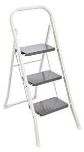 Trittleiter Stahl Klapptritt 3 Stufen Spreizsicherung 150kg Leiter Klappleiter