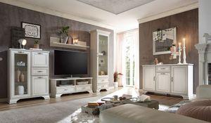 Venedig Wohnzimmer Komplettset 5-tlg. Weiß Used Look