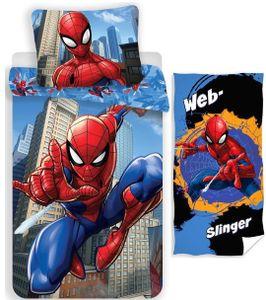 Marvel´s Spiderman - Wende-Bettwäsche-Set, 135x200 cm und Handtuch, 70x140 cm