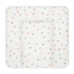 Bonky Wickelauflage weiche Wickelunterlage Baby Wickeltischauflage Abwaschbar - farbige Punkte - 75 x 70 cm