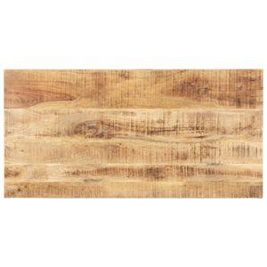 vidaXL Tischplatte Massivholz Mango 15-16 mm 100x60 cm