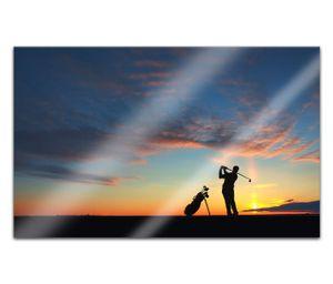Acrylglasbilder 80x50cm Sport Golf Natur Golfer Schläger Acryl Bilder Acrylbild Acrylglas Wand Bild 14H2132