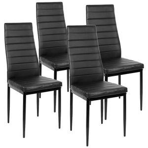 4tlg Set Esszimmerstühle  Stuhl Küchenstuhl Esszimmerstuhl Wohnzimmerstühle Schwarz
