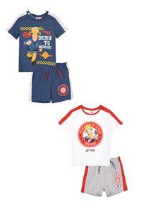 Feuerwehrmann Sam T-Shirt und Shorts Sommer Set Shirt Hose , Farbe:Weiß, Größe:98