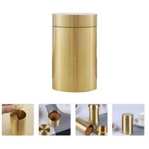 1Pc Messing Zahnstocher Box Einfache Wohnzimmer Zahnstocherhalter Home Supply Golden