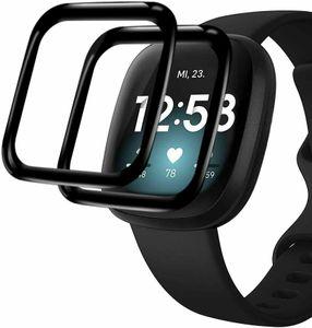 2X 3D Schutzglas für Fitbit Versa 3 / Sense Panzerfolie Display Full Curved 9H