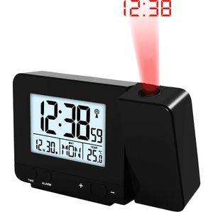Funkwecker mit Projektion WT 546 Projektionswecker schwarz Schlummerfunktion Temperaturanzeige