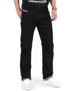 Diesel - Regular Fit Jeans - Waykee 0R84A, R8AM7, Größe:W34, Modell & Farbe:Schwarz 0R84A, Schrittlänge:L32