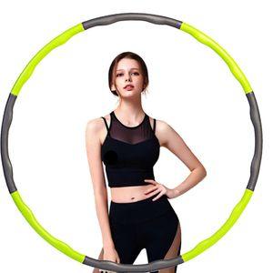 Hula Hoop Kinder Bauchtrainer & Hula Hoop Fat Loss Indoor Fitness Grün + Grau