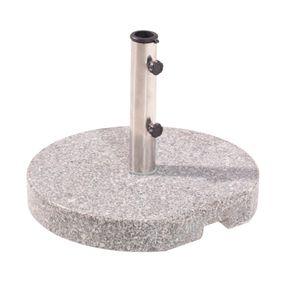 Greemotion Schirmständer Granit, rund, 25 kg runder Schirmständer mit Edelstahlrohr
