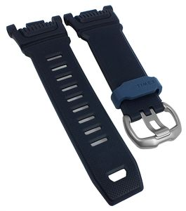 Timex Command Schock | Uhrenarmband blau Kunststoff weich | TW5M20500