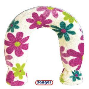 Nackenwärmflasche m. Fleecebezug 1,4 L Blumen