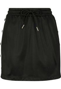 Urban Classics TB2624  Ladies Track Skirt, Größe:L, Farbe:blk/wht/blk