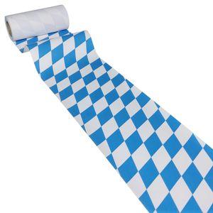50m x 0,20m JUNOPAX® Papier Tischband Raute weiß-blau