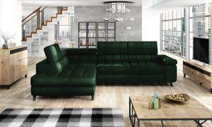 Mirjan24 Ecksofa Nord, Polsterecke vom Hersteller, L-Form Ecke, Bettkasten und Schlaffunktion (Farbe: Fresh 13, Seite: Links)