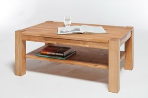 Couchtisch Beistelltisch Tisch Kernbuche Massiv geölt 105 x 65 cm Wohnzimmer