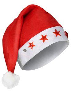 Leuchtende Weihnachtsmütze rot-weiss