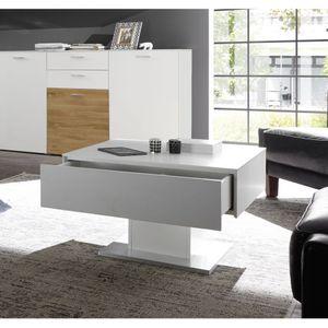 0755_CT-01-70x70 ARIZONA Weiß matt Lack Couchtisch Tisch Beistelltisch 70 x 70 cm