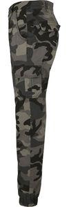Urban Classics Damen Ladies High Waist Camo Cargo Pants TB3047, color:dark camo, size Inch:31