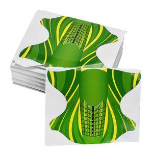 MagiDeal 100 Stück Acryl Nail Art Form Aufkleber selbstklebende Werkzeug UV