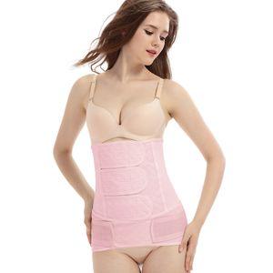 Frauen Hollow Breathable Body Shaper Bauchgürtel Gürtel Shapewear Größe:XL,Farbe:Rosa