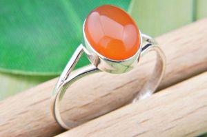 Karneol Ring 925 Silber Sterlingsilber Damenring orange rot (MRI 92-16),  Ringgröße:60 mm / Ø 19.1 mm