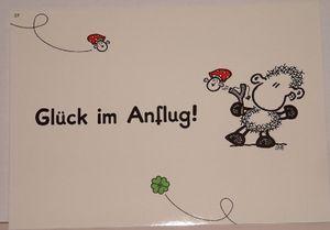 Sheepworld - 50575 - Postkarte, Nr. 37, Schaf, Glück im Anflug, Pappe