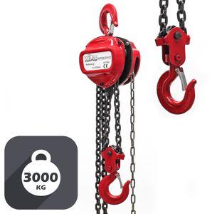Kettenzug 3000kg 3t 3m Seilzug Flaschenzug Hubhöhe Kran Kettenflaschenzug Kette