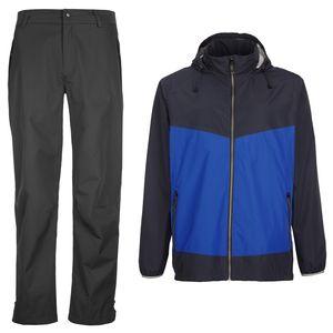 killtec farbiger Golfanzug blau / schwarz Gr.140 Jacke+Hose Regenbekleidung Golf - Gr. 140