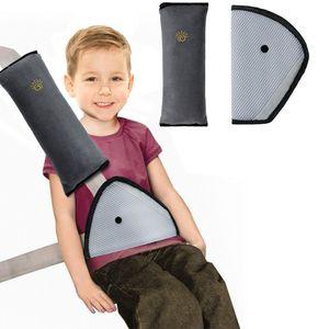 Gurtpolster Auto Kinder, 2 Stück Auto Sicherheitsgurt Schulterpolster Gürtelkissen Schutzkissen und Samtbeutel Groß für mehr Komfort auf der Reise