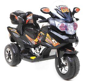 Kindermotorrad Power Trike Race Black Elektromotorrad 12V Kinderfahrzeug elektrisch