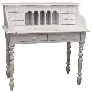 Casa Padrino Landhausstil Schreibtisch Antik Stil Weiß 109 x 60 x H. 110 cm - Möbel im Landhausstil