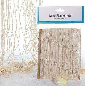 Deko Fischernetz für maritime Deko 200 x 100 cm