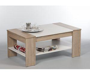 83-441-68 Finley Plus Couchtisch Beistelltisch Tisch Eiche Sonoma / Weiss ca. 100 cm