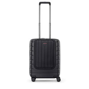 reisenthel boardcase with flap, Reisekoffer, Hartschalenkoffer, Koffer, mit Klappe, Polycarbonat, Iconic Shell Black, 37 L, LE7053