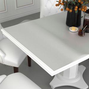 Tischdecke Tischschutz hochwertig Tischfolie Matt 160x90 cm 2 mm PVC