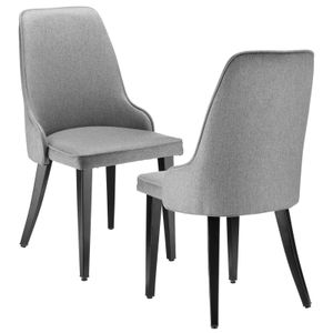 Futurefurniture® Essensstuhl,Linen Stuhl,Klassischer Retro-Stuhl(2er Set)-Grau