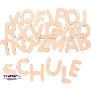 EDUPLAY 120595 Holzbuchstabe A, natur