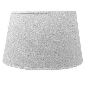 Lampenschirm für E14 E27 Fassungen grau Leinenoptik 21 cm  Polyester/Baumwolle