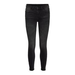 Noisy May Jeans Damen NMKIMMY NW ANKLE ZIP AZ10 Größe 29/30, Farbe: 217441 Dark Grey Denim