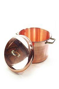 """'CopperGarden"""" Kupfertopf 8L, glatt mit Griffen & Deckel"""
