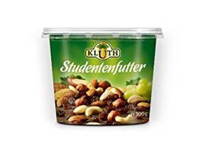 Kluth Studentenfutter bestehend aus Obst Nüssen Samen 300g 3er Pack